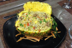 pineapple filled with fried rice