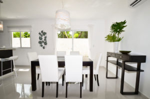 dining room in ground floor condo at The SANCTUARY at Los Corales