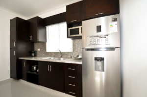 kitchen in ground floor condo at The SANCTUARY at Los Corales