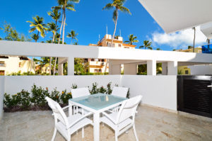 outdoor patio in ground floor condo at The SANCTUARY at Los Corales