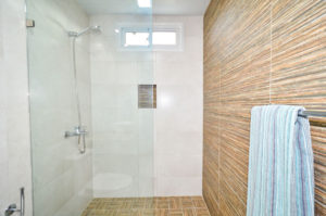 standing shower in penthouse condo at The SANCTUARY at Los Corales