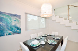 dining room in penthouse condo at The SANCTUARY at Los Corales
