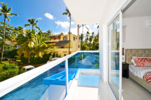 balcony with view of Punta Cana in second floor condo at The SANCTUARY at Los Corales