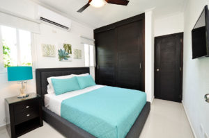 bedroom in penthouse condo at The SANCTUARY at Los Corales