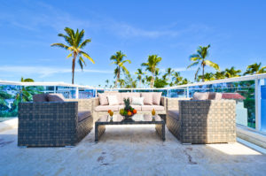 penthouse balcony with view of Punta Cana at The SANCTUARY at Los Corales