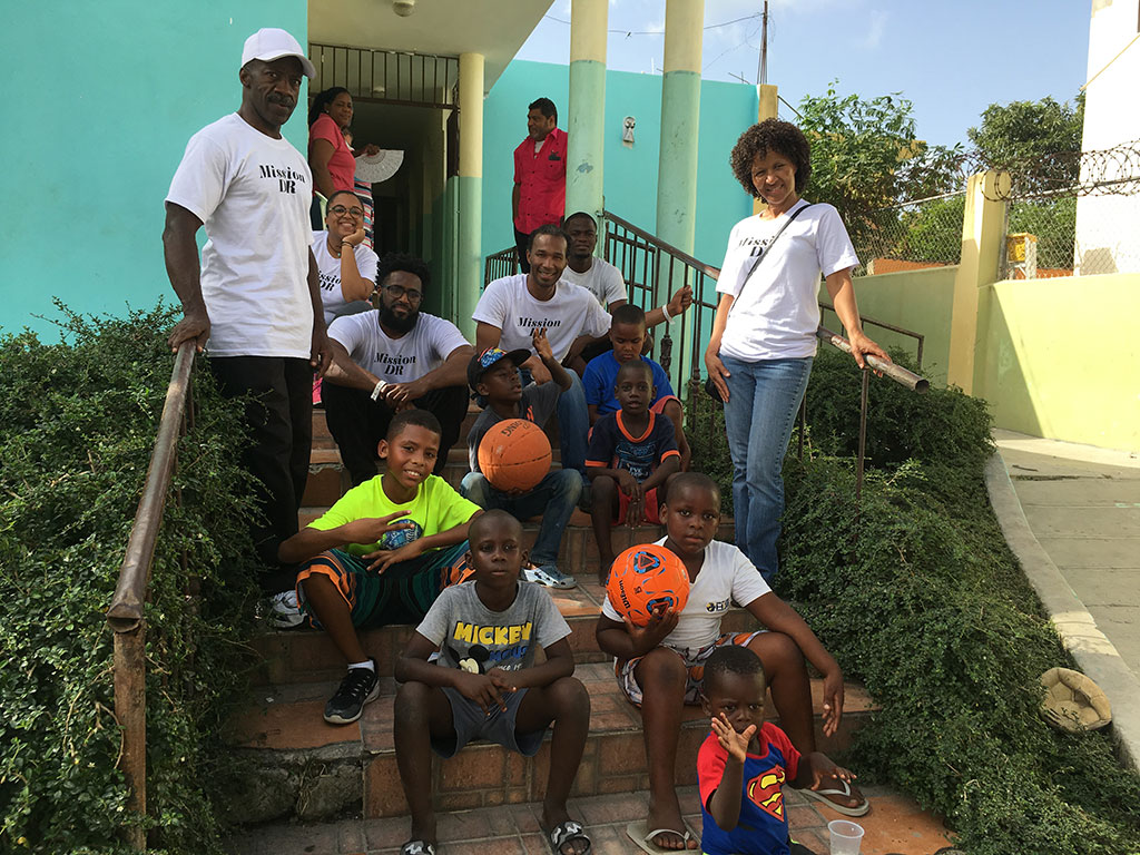Basketball playdate with the boys at orphanage in Higuey